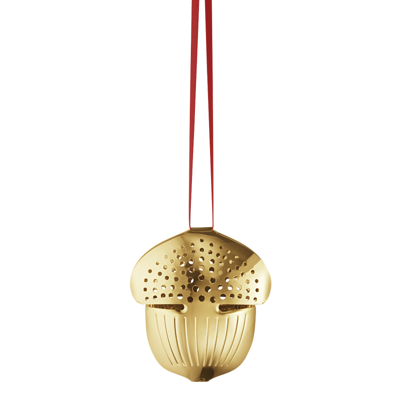 2018 Holiday Ornament Acorn - gold plated