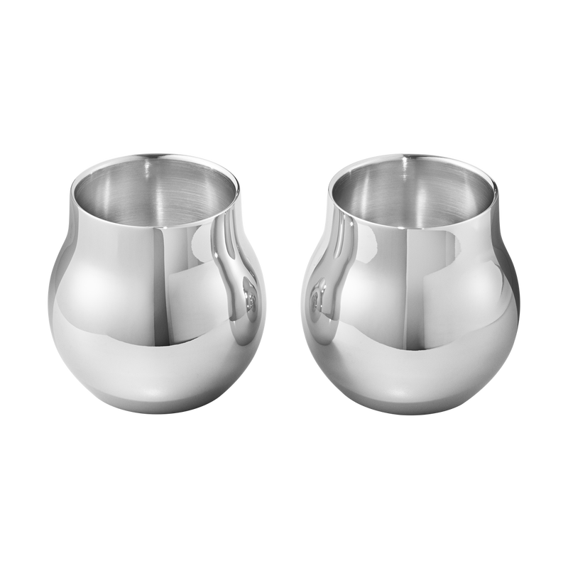 CAFU tealight holder, stainless steel, 2 pcs.