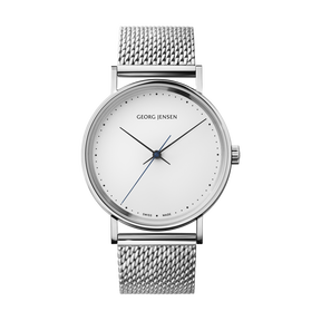 KOPPEL - 38 mm, Mechanical hand-wound, white dial, steel bracelet