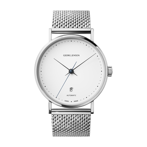 KOPPEL - 41 mm, Automatic mechanical, white dial, steel bracelet