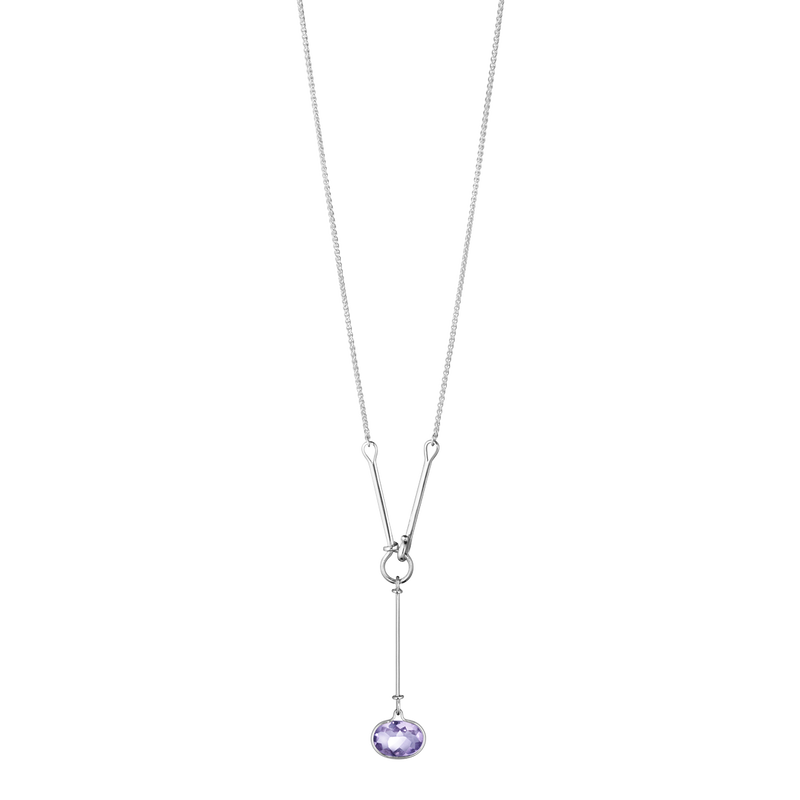 SAVANNAH pendant - sterling silver with amethyst