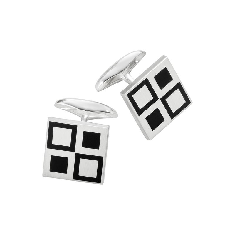 87 cufflinks - sterling silver with enamel