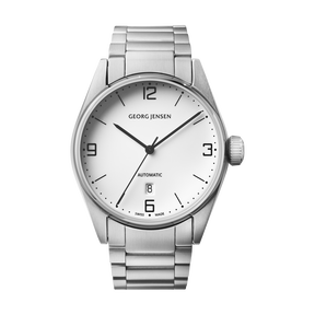 DELTA CLASSIC - 42 mm, Automatic mechanical, white dial, steel bracelet