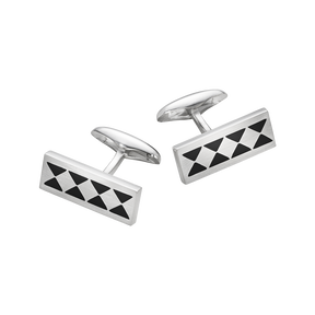 115A cufflinks - sterling silver with enamel