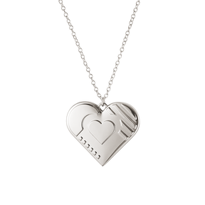 2019 Christmas ornament, Heart - Palladium plated| Georg Jensen