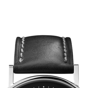 KOPPEL strap - 38 mm, black leather L