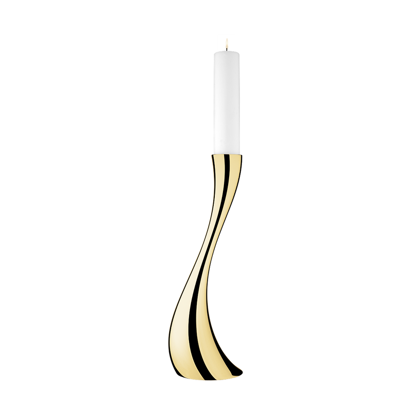 COBRA floor candleholder, medium, gold plated
