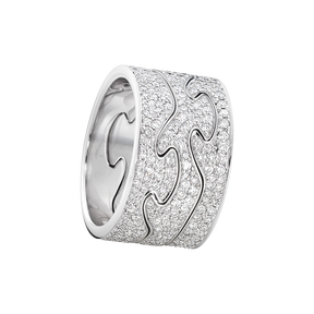 FUSION 3-piece ring - 18 kt. white gold with brillant cut diamonds