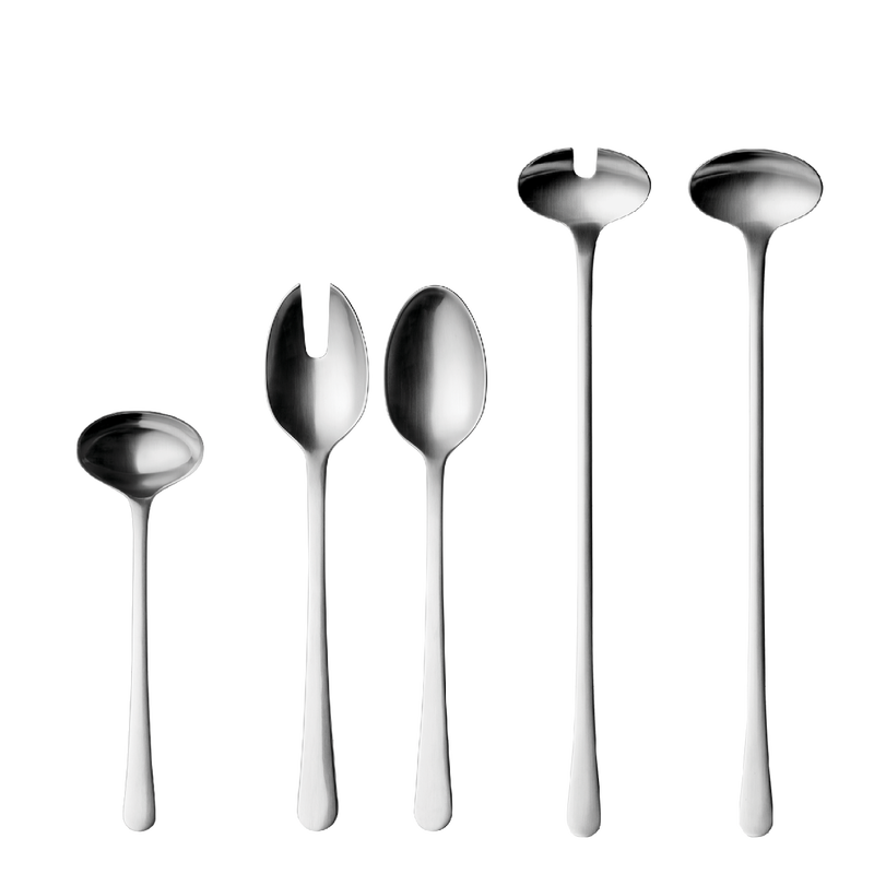 COPENHAGEN serving set, mirror, 5 pcs.