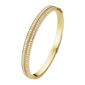 HALO bangle - 18 kt. gold with brilliant cut diamonds