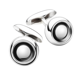 SPHERE cufflinks - sterling silver with silver stone
