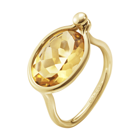 SAVANNAH ring - 18 kt. yellow gold with citrine, medium
