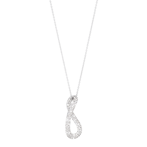 INFINITY pendant - sterling silver with brilliant cut diamonds, large