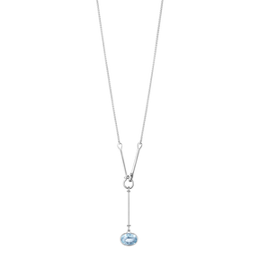 SAVANNAH pendant - sterling silver with blue topaz, 90 cm
