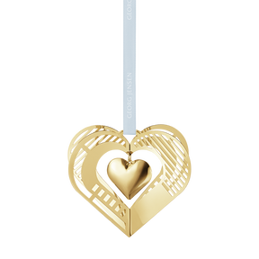 2019 Christmas Mobile, Heart -  gold plated | Georg Jensen