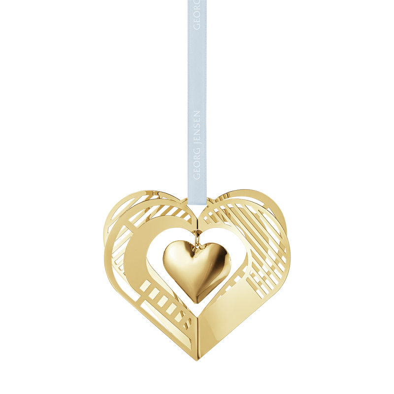 2019 Christmas Mobile, Heart -  gold plated