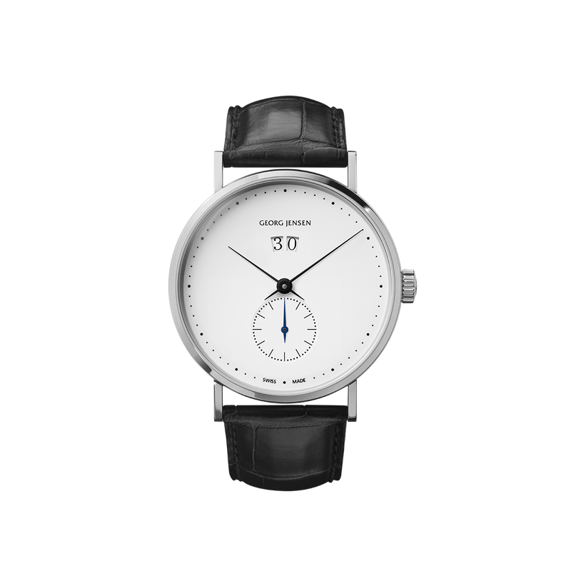 KOPPEL GRANDE DATE - 41 mm, Small seconds Automatic, white dial