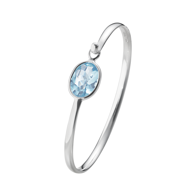 SAVANNAH bangle - sterling silver with blue topaz