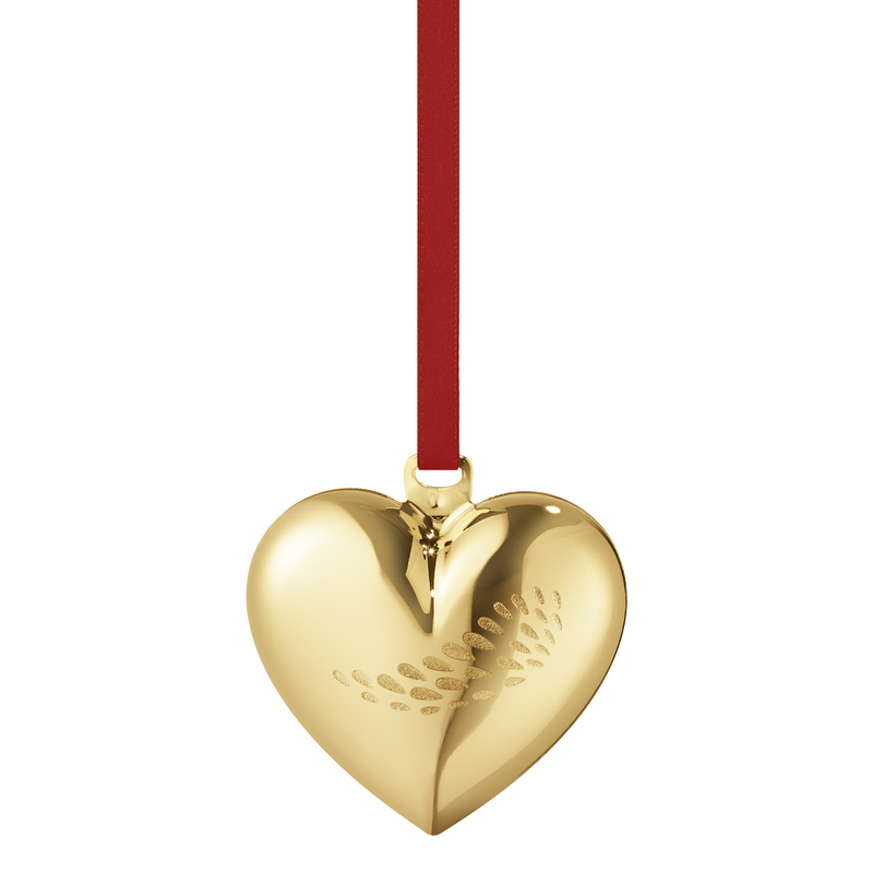 2018 Christmas Heart - gold plated