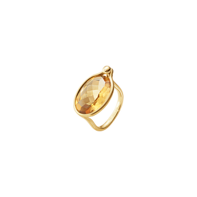 SAVANNAH ring - 18 kt. yellow gold with citrine