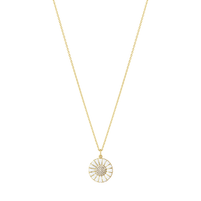 DAISY pendant - gold plated sterling silver with diamonds