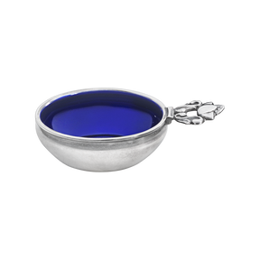 ACORN Salt cellar with blue enamel