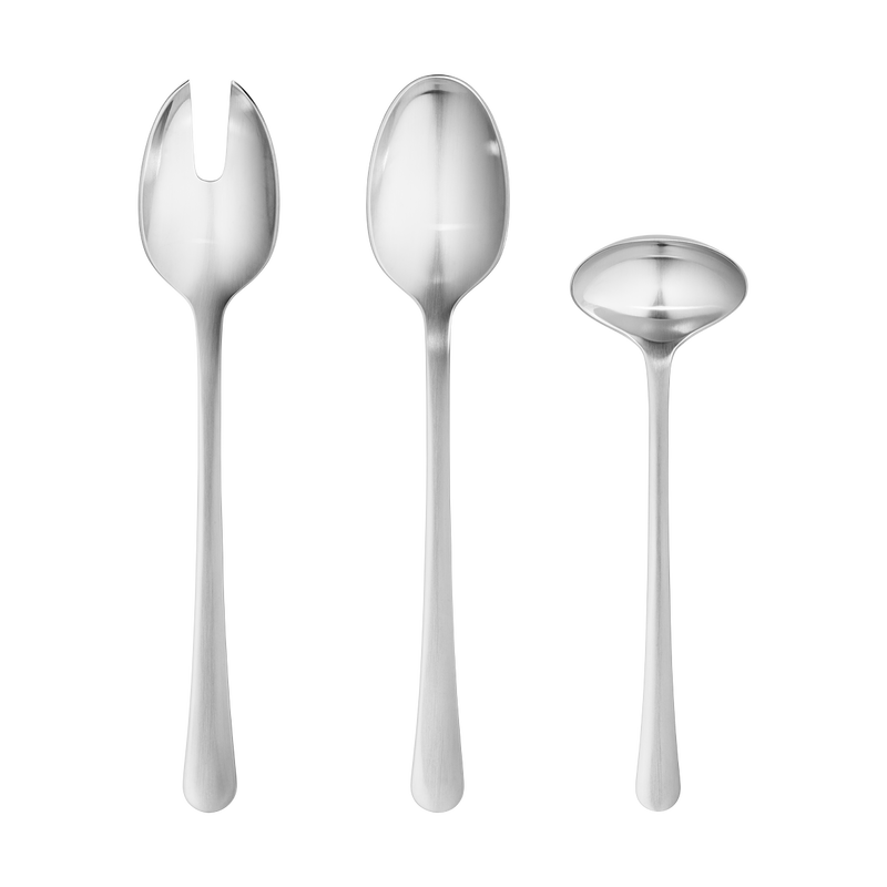 COPENHAGEN serving set - matte stainless steel, 3 pcs.