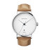 KOPPEL - 41 mm, Automatic mechanical, white dial, tan leather strap