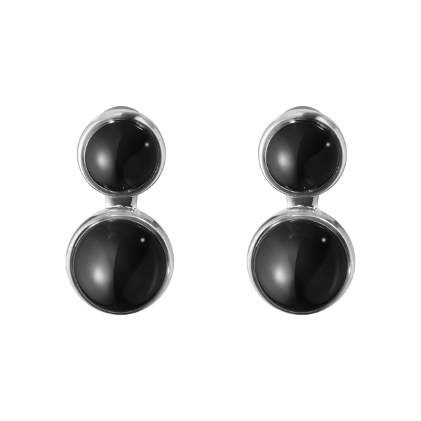 MICHELSEN earrings - sterling silver with black onyx