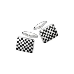 113A cufflinks - sterling silver with enamel
