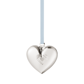 2019 Christmas Heart decoration - Palladium plated| Georg Jensen