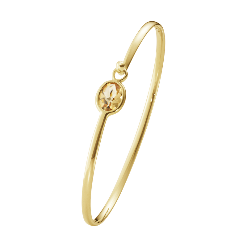 SAVANNAH bangle - 18 kt. yellow gold with citrine