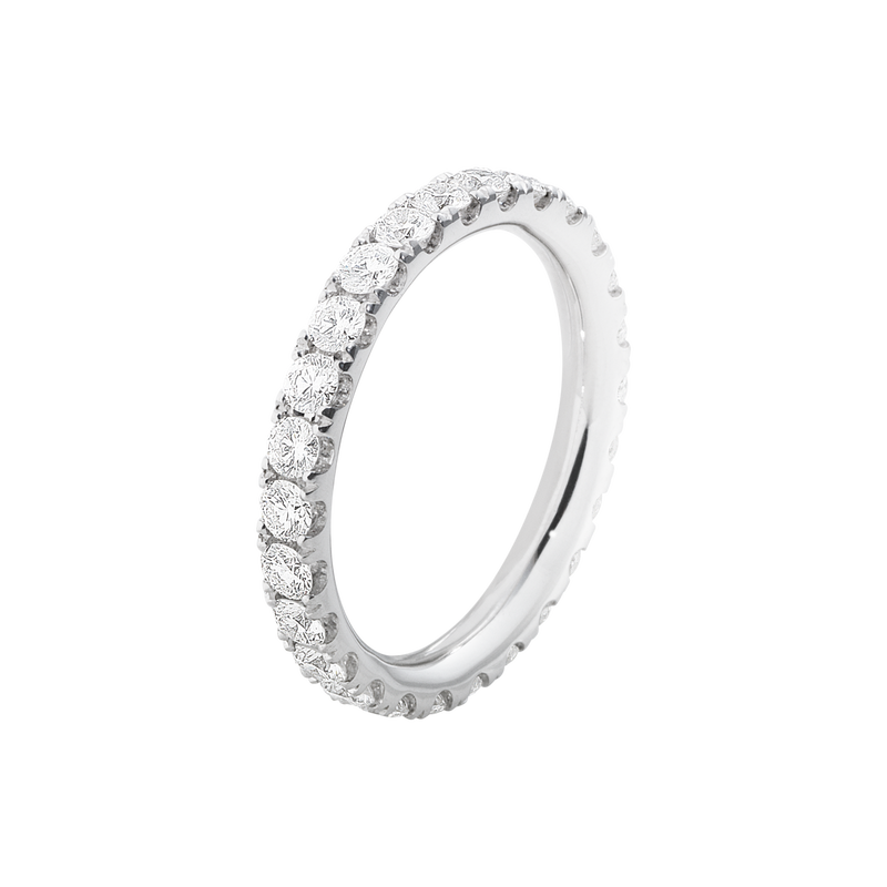 AURORA ring - 18 kt. white gold with briliant cut diamonds