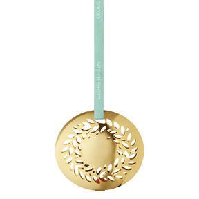 2016 Christmas Mobile Magnolia Wreath, gold plated