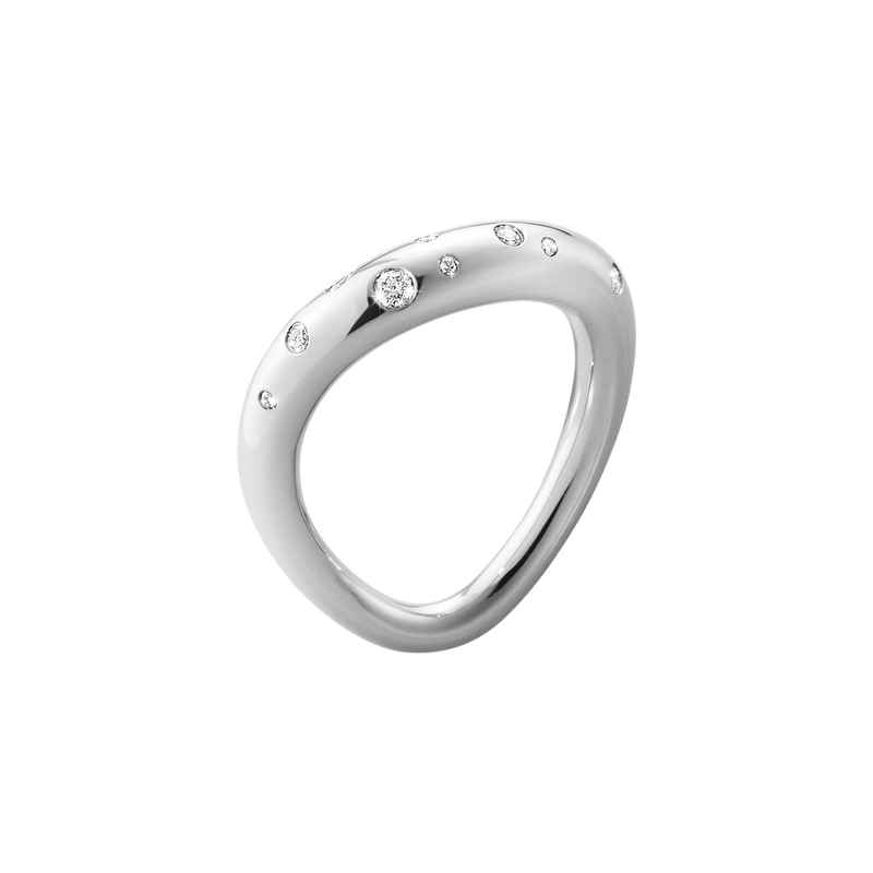 OFFSPRING ring - sterling silver with brilliant cut diamonds