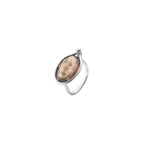 SAVANNAH ring - sterling silver with smokey quartz