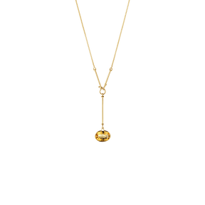 SAVANNAH pendant - 18 kt. yellow gold with citrine