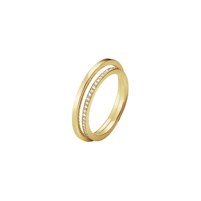 HALO ring - 18 kt. gold with brilliant cut diamonds