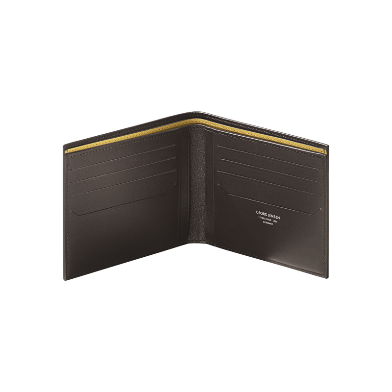 BUSINESS CLASSIC 8 card wallet, brown and yellow