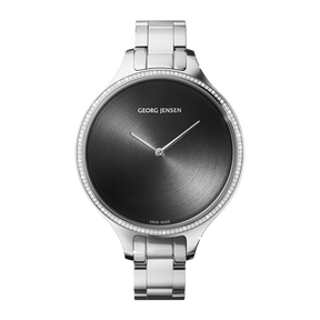 CONCAVE - 39 mm, Quartz, sunray dial, diamond bezel, bracelet