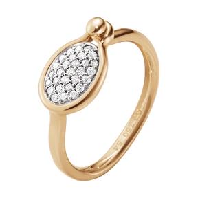 SAVANNAH Ring - 18 kt Roségold mit Diamanten, klein
