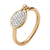 SAVANNAH ring - 18 kt. rose gold with diamonds, small