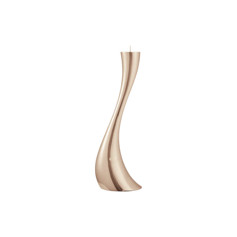 COBRA floor candleholder - rose gold plated, medium