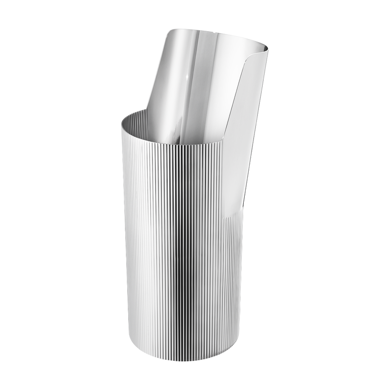 URKIOLA vase, stainless steel, tall