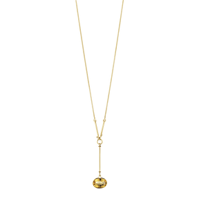 SAVANNAH pendant - 18 kt. yellow gold with citrine, 90 cm