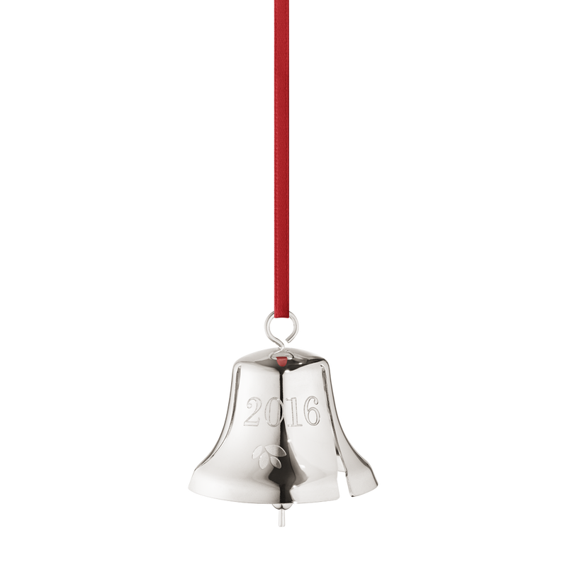 2016 Christmas Bell, palladium plated