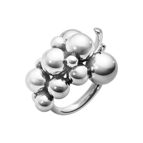 MOONLIGHT GRAPES ring - oxideret sterlingsølv, medium