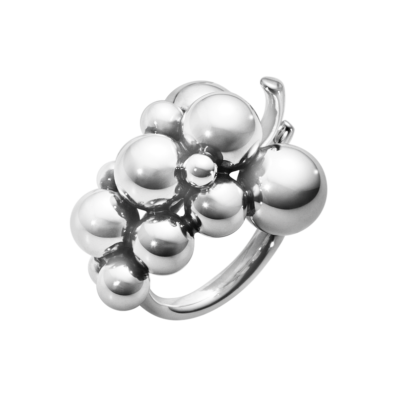 MOONLIGHT GRAPES ring – oxiderat sterlingsilver, medium