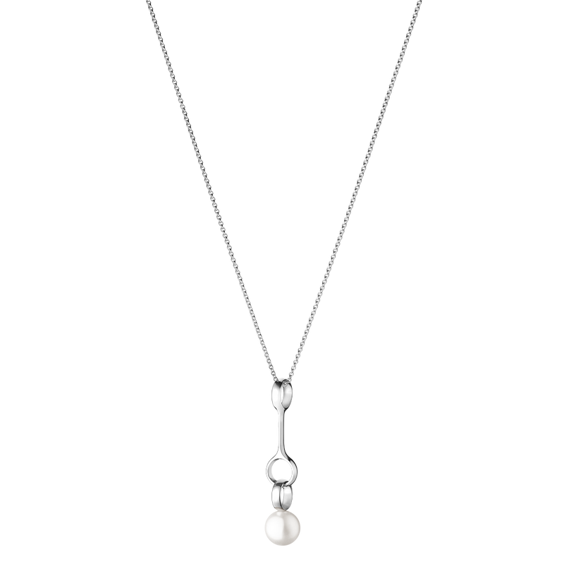 SPHERE pendant - sterling silver with white freshwater cultured pearls