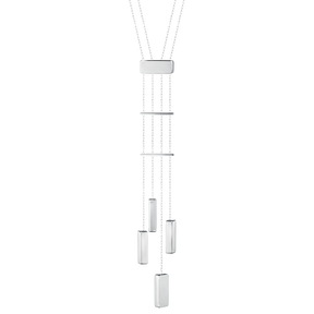 ARIA necklace - four drops, sterling silver
